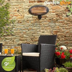 2000W Wall Mounted Patio Heater  Graphite