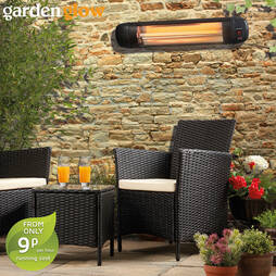 2000W L WALL MOUNTED PATIO HEATER+REMOTE
