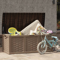 XXL Rattan Storage Box 634L ChocolateMocha
