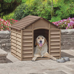 Large Dog Kennel ChocolateMocha