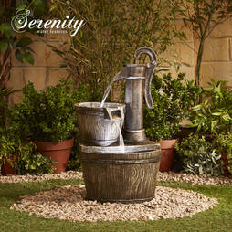 Traditional Pump Barrel Water Feature