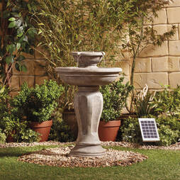 SOLAR 2 TIER STONE EFFECT WATER FEATURE