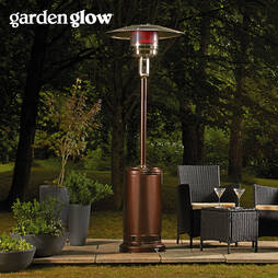 Garden Glow 12Kw Powder Coated Heater  Bronze