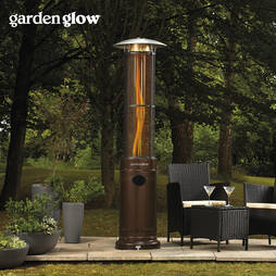 Garden Glow Circle Flame Gas Patio Heater  Bronze
