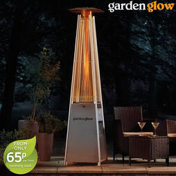 Garden Glow Square Flame Gas Patio Heater