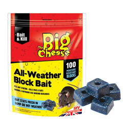 The Big Cheese All Weather Rodent Bait  100 Blocks