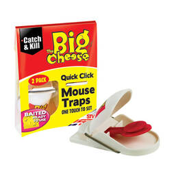 The Big Cheese Quick Click Mouse Traps  Twin Pack