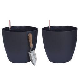 Garden Grow Set of 2 Self Watering Plant Pots Large