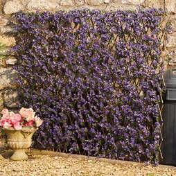 Expandable Purple Lavender Artificial Hedge Trellis 0.7x2m