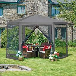 Hexagon Gazebo  Grey
