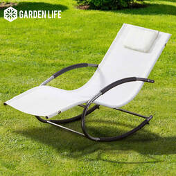 Garden Life Premium Zero Gravity Rocking Lounger  Grey