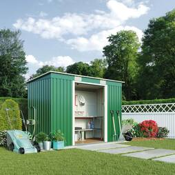 Waltons Deluxe Pent 6.6 x 4ft Metal Shed