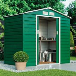 Waltons Heavy Duty Reinforced Premium Apex 7 x 4.2ft Metal Shed