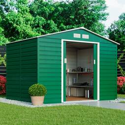 Waltons Heavy Duty Reinforced Premium Apex 9.1 x 6.3ft Metal Shed