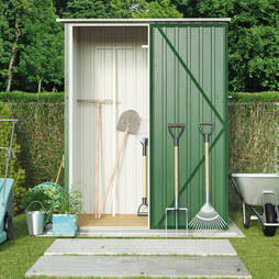 Dark Green Waltons Pent 4.7 x 3ft Shed