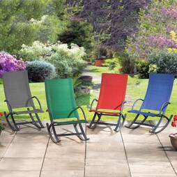 Garden Rocking Chair  Red Twin Pack