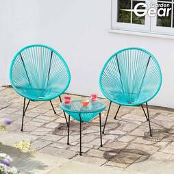 Garden Gear String Bistro Set  Aqua Blue