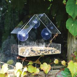 Kingfisher Plastic Window mounted Bird Feeder