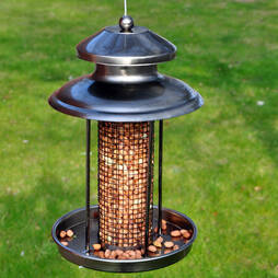Kingfisher Pewter Effect Lantern Nut Feeder