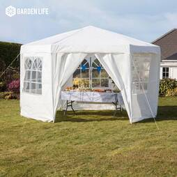 Hexagonal Party Tent  White