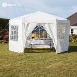 Hexagonal Party Tent  White