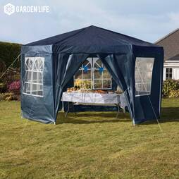 Hexagonal Party Tent  Blue