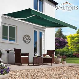 Waltons Easy Fit Half Cassette Awning  Green 350 x 250