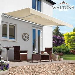 Waltons Easy Fit Half Cassette Awning  Cream 400 x 300