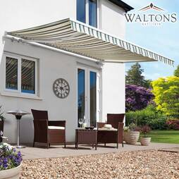Waltons Easy Fit Half Cassette Awning  Multi Stripe 400 x 300