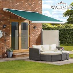 Waltons Easy Fit Full Cassette Awning  350 x 250  Green