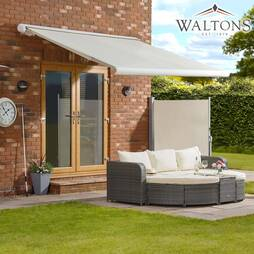 Waltons Easy Fit Full Cassette Awning  300 x 250  Cream