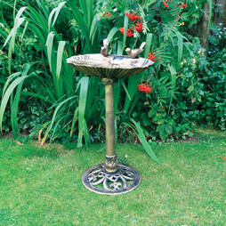 Kingfisher Bronze Effect Plastic Bird Bath