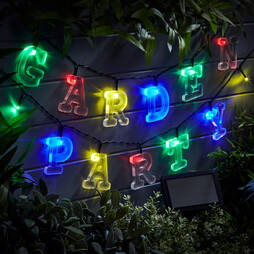 64piece Solar LED Alphabet String Lights