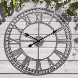 Roman Numeral Garden Wall Clock  Cream