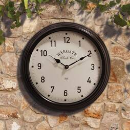 Radio Controlled Garden Wall Clock  Cream
