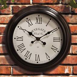 Radio Controlled Station Wall Clock  Black
