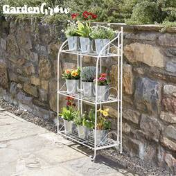 Ninepiece Zinc Planter Set
