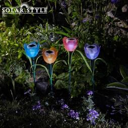 Solar Style Four Tulip Lights