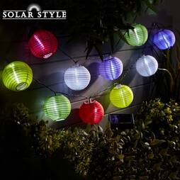Solar Style Chinese Lantern String Lights