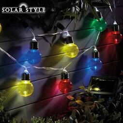 Solar Style 10 Multi Coloured Bulb Mini Festoon Lights  Twin Pack