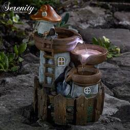 Serenity Toadstool House Water Feature