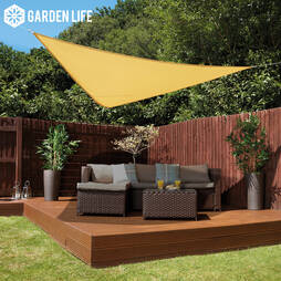 Garden Life 3Metre Triangle Waterproof Sun Shade Sail  Sand