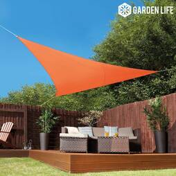 Garden Life 3.6Metre Triangle Waterproof Sun Shade Sail  Terracotta