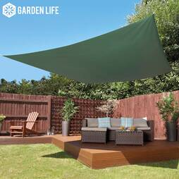 Garden Life 3Metre Square Waterproof Sun Shade Sail  Green