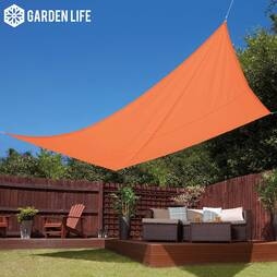 Garden Life 3x4m Waterproof Sun Shade Sail  Terracotta