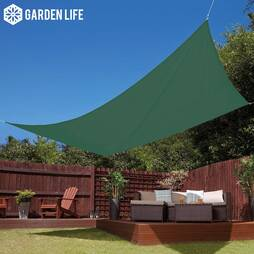 Garden Life 3x4m Waterproof Sun Shade Sail  Green