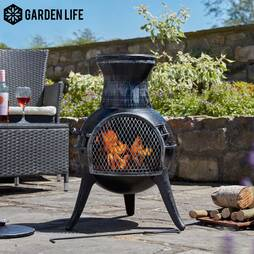 Garden Life Cast Iron and Steel Chimenea