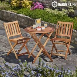 Garden Life Acacia Hardwood Bistro Set