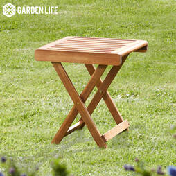Garden Life Acacia Folding Side Table