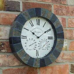 Stonegate Wall Clock, Thermometer and Hygrometer
